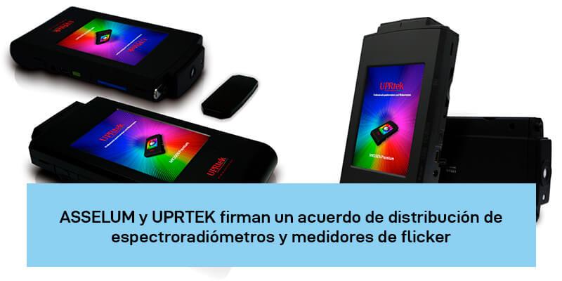 ASSELUM y UPRTEK: Acuerdo de distribución de espectroradiómetros y medidores de flicker