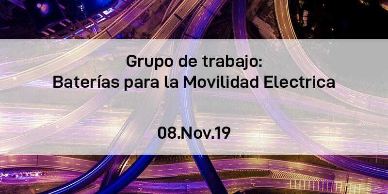Grupo de Trabajo de Baterías para la movilidad eléctrica