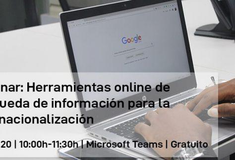 Webinar: Búsqueda de información para la internacionalización