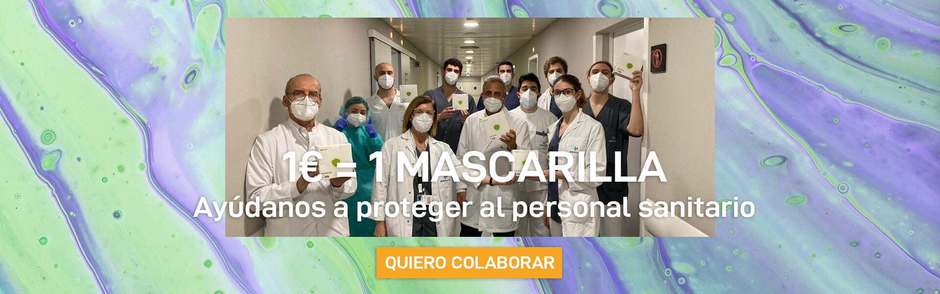 Campaña para donar mascarillas
