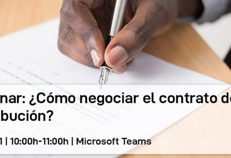 Webinar: ¿Cómo negociar el contrato de distribución?
