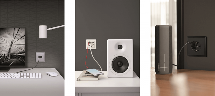 JUNG presenta nuevos enchufes SCHUKO® con cargador USB y Quick Charge