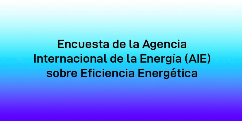 Encuesta de la AIE sobre eficiencia energética