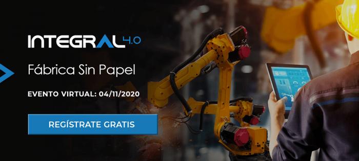 Llega la tercera edición del evento virtual Integral 4.0: Fábrica Sin Papel