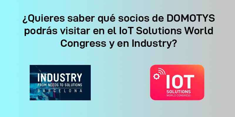 Socios de Domotys participantes en el Iot e Industry 2019