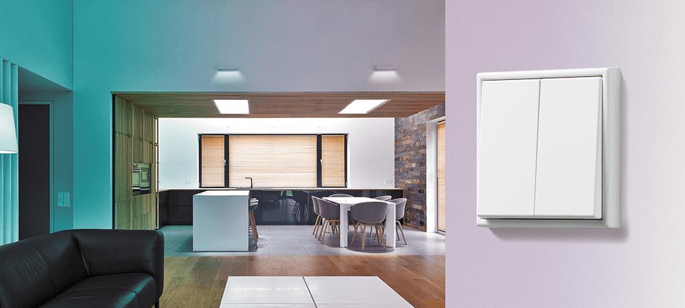 Nuevos emisores murales con Bluetooth LE y para Philips Hue de JUNG