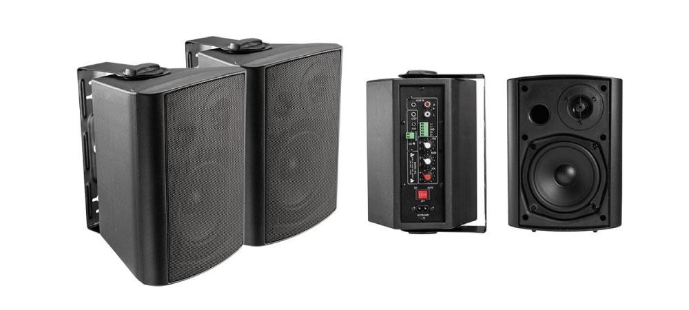 El sistema compuesto por una caja activa y otra pasiva es perfecto para instalaciones fijas que requieran conectar una fuente de sonido en cada ocasión.