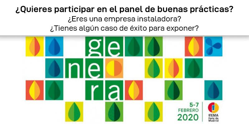 Panel de buenas prácticas Genera 2020: ¡Participa!