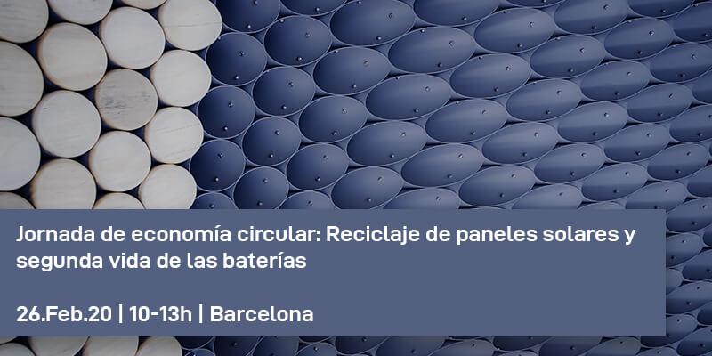 Jornada: Reciclaje de paneles solares y segunda vida de las baterías