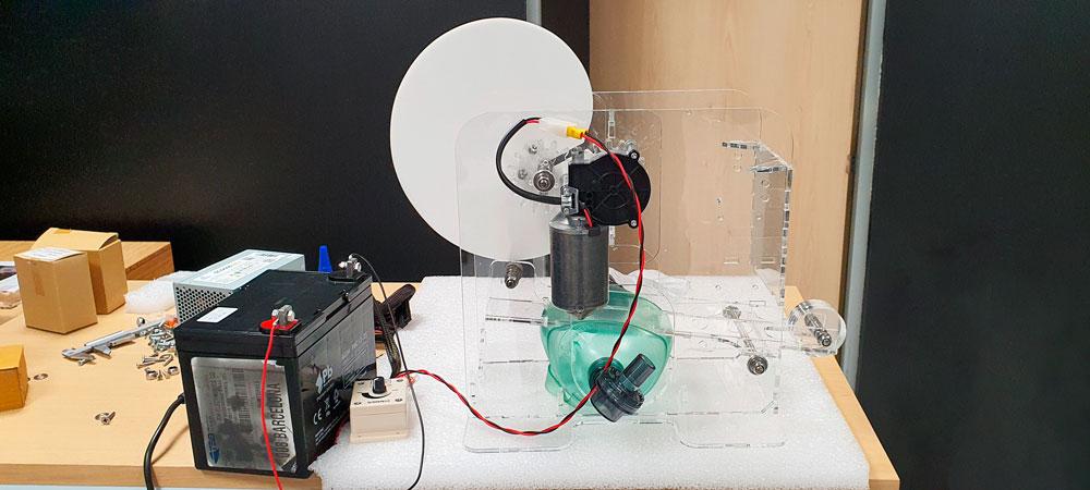 SECARTYS está coordinando un consorcio para fabricar respiradores de campaña, que pueden funcionar autónomamente con batería.