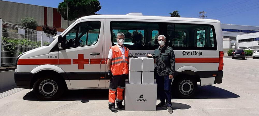 Secartys realiza un donativo de mascarillas a la Cruz Roja