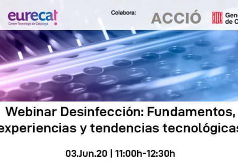 Webinar Desinfección: Fundamentos, experiencias y tecnologías
