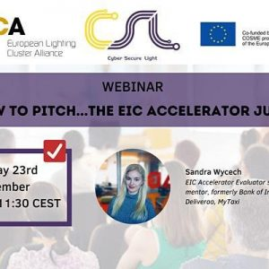 """Webinar """"How to pitch... the EIC accelerator jury?"""""""
